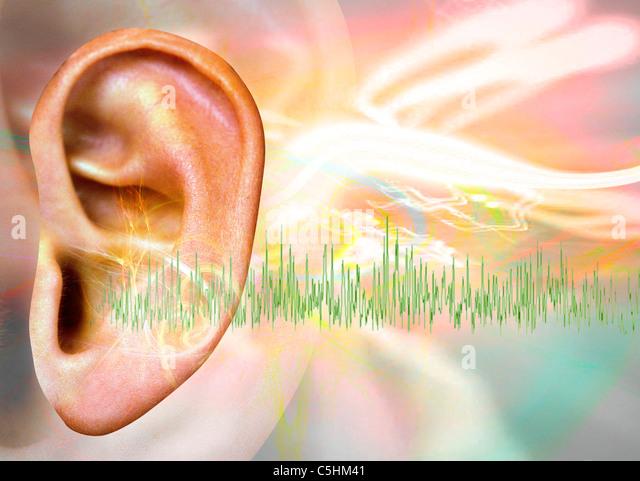 Tinnitus, conceptual artwork - Stock-Bilder