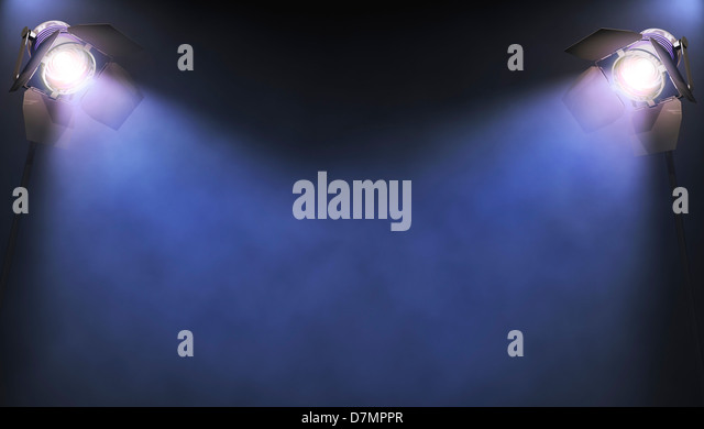 Spotlights, artwork - Stock Image