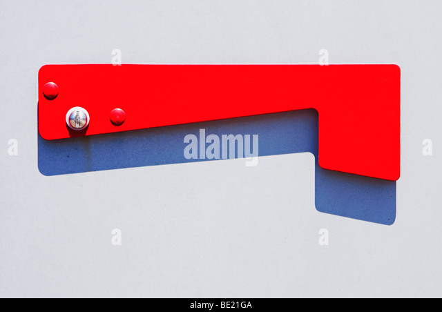 flag on mail box - Stock Image