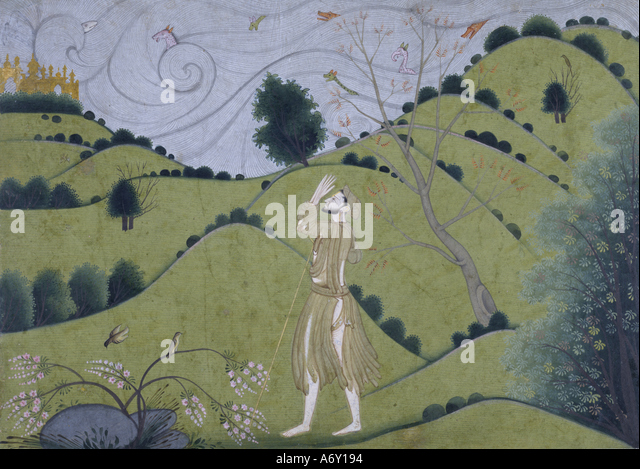 The Road to Krishna. Garwhal, Pahari, India, late 18th century. - Stock Image