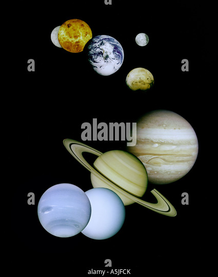 Solar System Montage - Stock Image