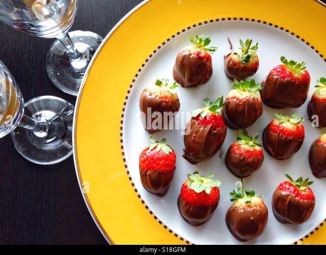 Romantic dessert - Stock-Bilder