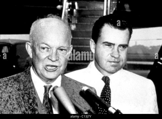 Dwight D. Eisenhower, Richard Nixon, circa late 1950s - Stock Image