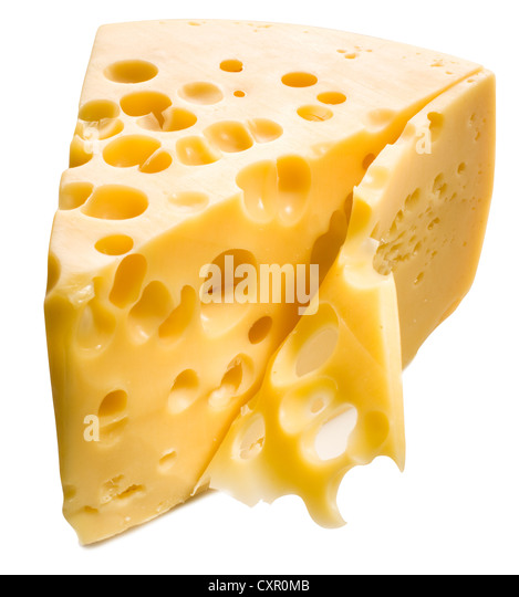 Cheese isolated on white background. - Stock Image