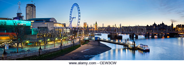 The South Bank, and the river Thames, London - Stock Image