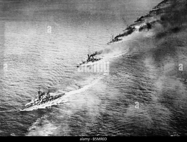 9 1916 5 31 A1 18 E Battle of Jutland 1916 British F eet World War One 1914 18 Battle of Jutland Skagerrak 31 5 - Stock-Bilder