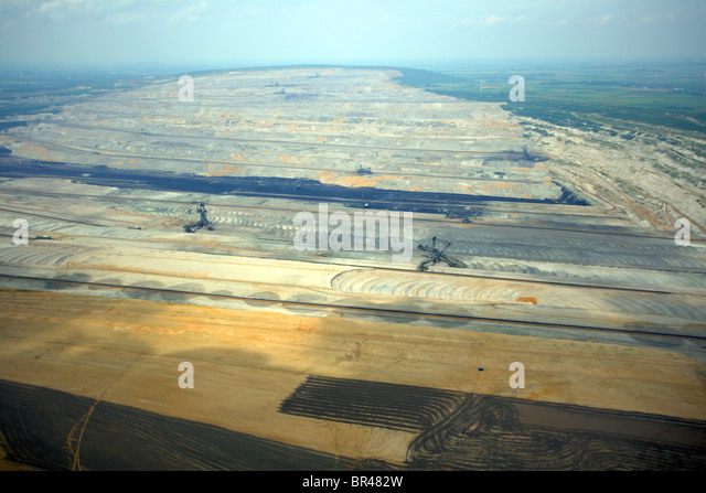 brown coal surface mining, Germany, North Rhine-Westphalia, Hambach - Stock Image