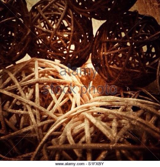 Willow decorative spheres (balls) - Stock Image