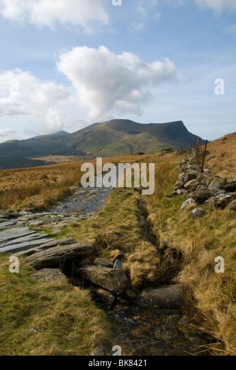 Mynydd Drws-y-coed and Y Garn (Nantlle Ridge), Snowdonia, North Wales, UK - Stock Image