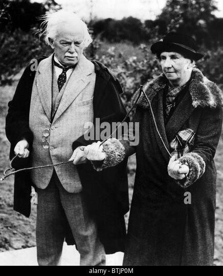 British Statesman Lloyd George and Mrs. David Wyllie, Surrey, England. May 26, 1938. Courtesy: CSU Archives/Everett - Stock Image