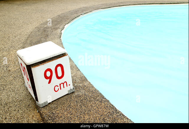 90 cm. water depth sign - Stock Image