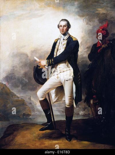 George Washington by John Trumbull - Stock Image