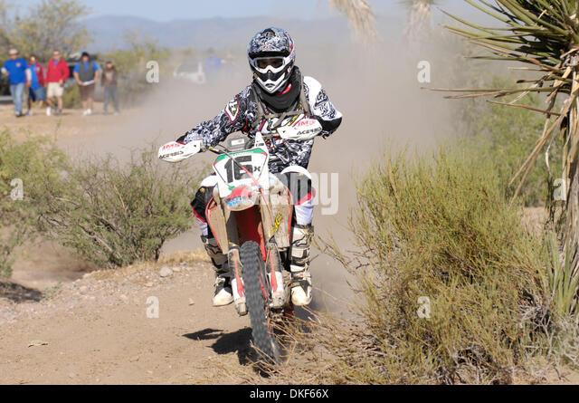 Jun 06, 2009 - Valle de la Trinidad, Baja Norte, Mexico - IVAN RAMIREZ, 5th placewinner of Class 22 (250cc or more - Stock Image