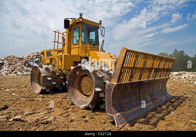 Landfills With Tractors : Spiked wheel stock photos images alamy