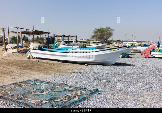 Oman, Muscat, Fishing boats - Stock Image