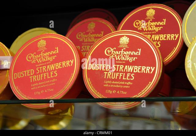 Chocolatiers stock photos chocolatiers stock images alamy for Strawberry truffles recipe uk