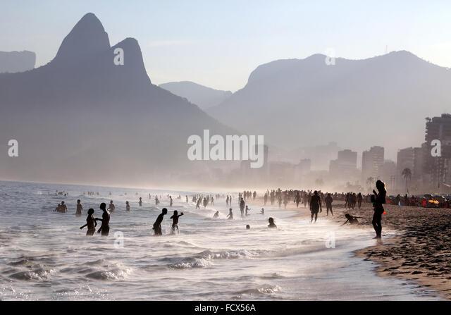 Ipanema beach, Rio de Janeiro, Brazil - Stock Image