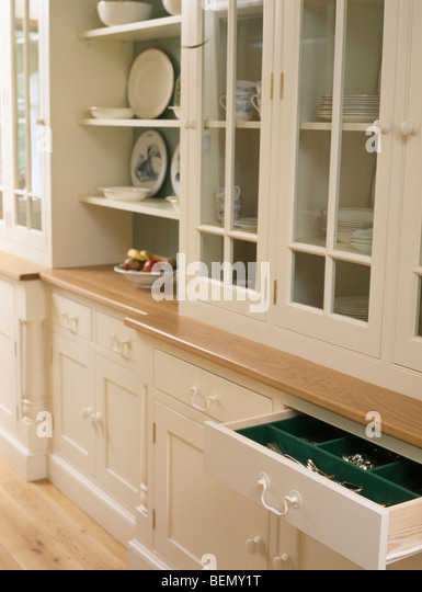 Drawers and cupboards stock photos drawers and cupboards for Fitted kitchen cupboards