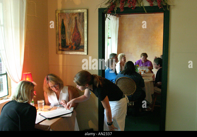 Louisiana St. Tammany Parish Covington New Hampshire Street Ristorante Del Porto - Stock Image