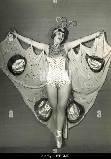 Unidentified burlesque dancer - Stock Image