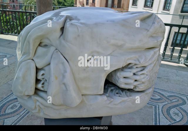 Sculpture palau march palma de stock photos
