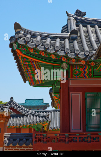 Gyeongbokgung Palace Seoul South Korea. JMH3938 - Stock Image