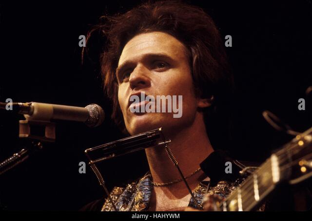Country Joe McDonald -  28/03/1971  -  France / Ile-de-France (region) / Paris  -  Concert Country Joe McDonald, - Stock Image