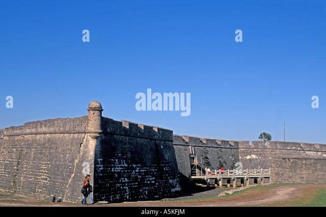 St Augustine florida Castillo de San Marcos  iconic florida landmark - Stock Image