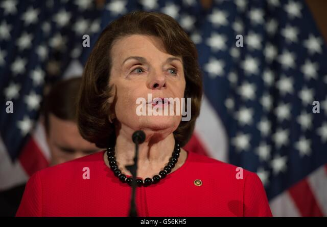 Washington, United States Of America. 20th June, 2016. U.S Senator Dianne Feinstein of California joined by other - Stock Image