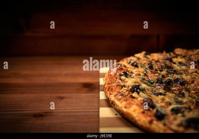Italian delicious pizza - Stock Image