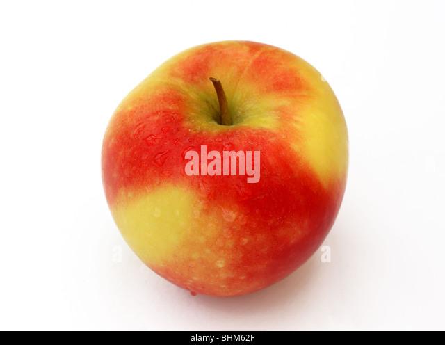 Fresh English dessert apple on a white background. - Stock Image