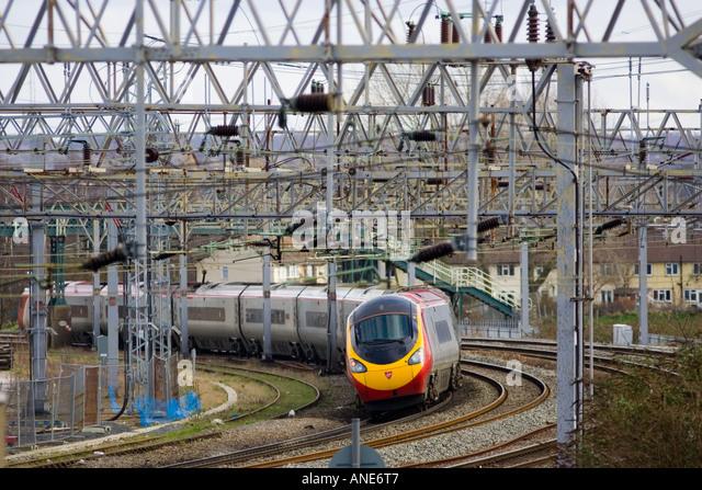 Intercity train Shropshire United Kingdom - Stock-Bilder