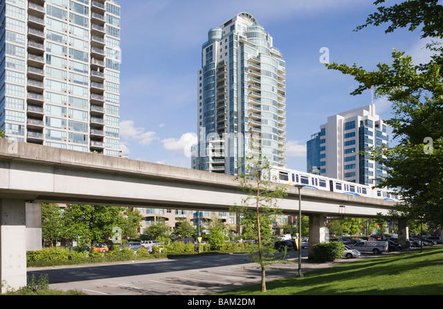 Vancouver sky train - Stock Image