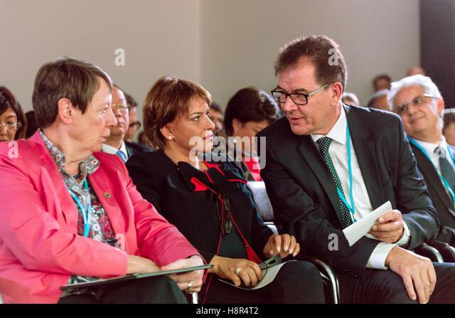 Marrakech, Morocco. 15th Nov, 2016. The German Federal Minister of the Environment Barbara Hendricks, the German - Stock Image
