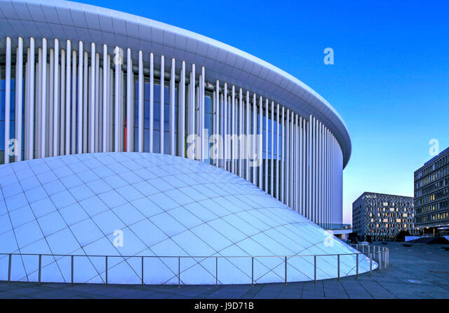 New Philharmonic Hall on Kirchberg in Luxembourg City, Grand Duchy of Luxembourg, Europe - Stock-Bilder