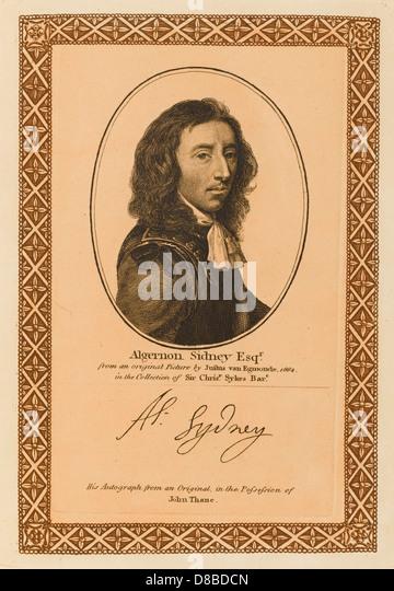 Algernon Sidney - Stock Image
