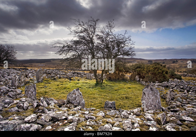 Dun Ruadh cairn in Co Tyrone, Northern Ireland. - Stock Image