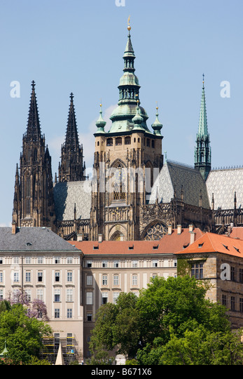 St vitus cathedral prague - Stock Image