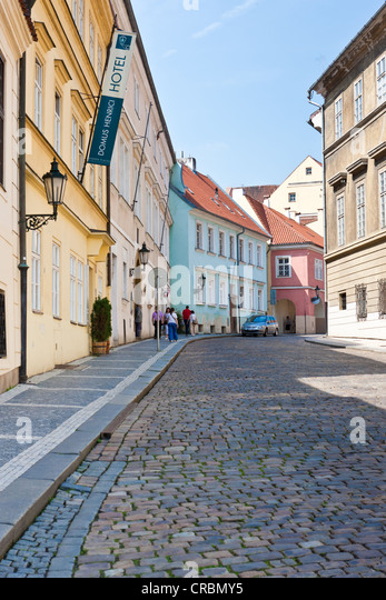 Prague cobbled streets stock photos prague cobbled for Where is prague near