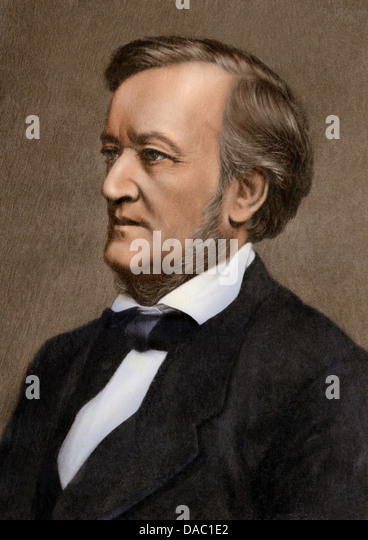 Photograph of composer Richard Wagner. - Stock Image