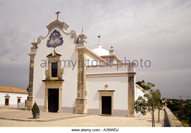 Portugal Algarve near Faro Almancil Igreja de Sao Laurenco das Matos outdoor - Stock Image