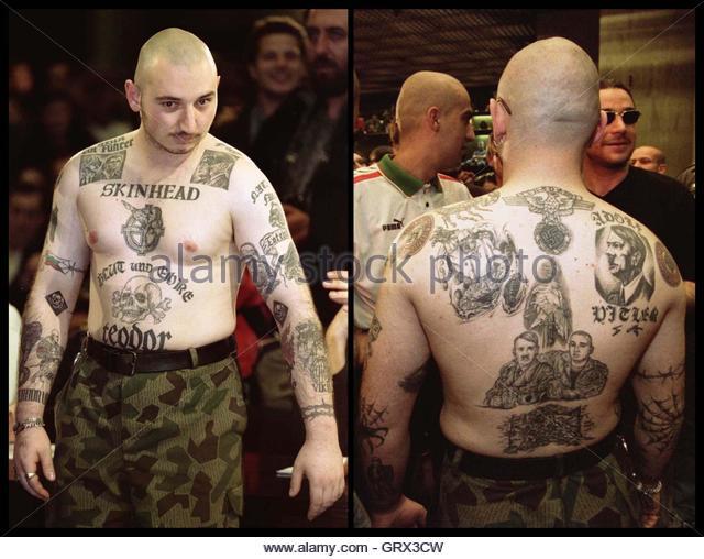 skinhead tattoo stock photos skinhead tattoo stock images alamy. Black Bedroom Furniture Sets. Home Design Ideas