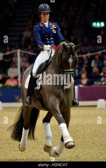 Olympia The London International Horse Show at Grand Hall Olympia London, UK. 14th Dec, 2016. Dressage: World & - Stock-Bilder