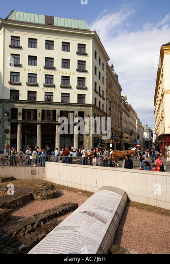 Vienna Michaels square archielogical site - Stock Image