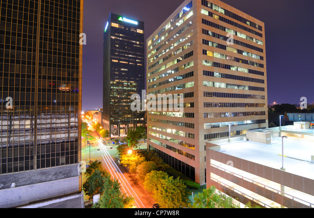 Urban scen along 5th Ave in downtown Birmingham, Alabama. - Stock Image