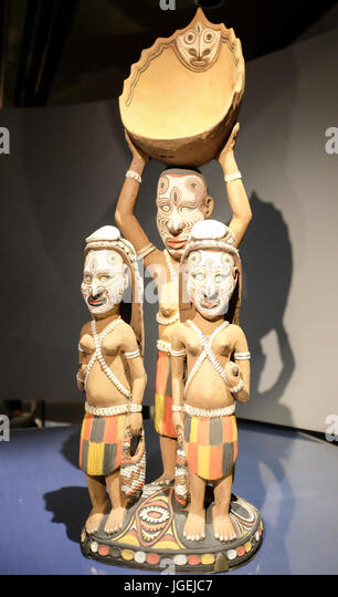 Aibom Meri, 2012, by Kaua Gita, Museum of Anthropology, Vancouver, Canada - Stock Image