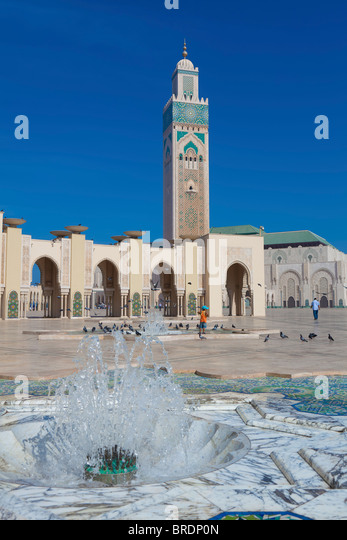 Hassan II Mosque, Casablanca, Morocco - Stock Image