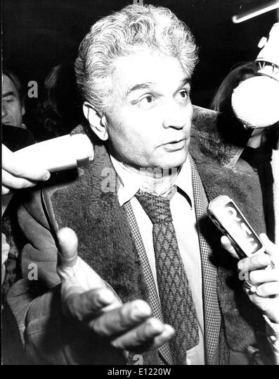 Jan. 02, 1982 - Paris, France - French philosopher and writer JACQUES DERRIDA answers questions from the press after - Stock Image