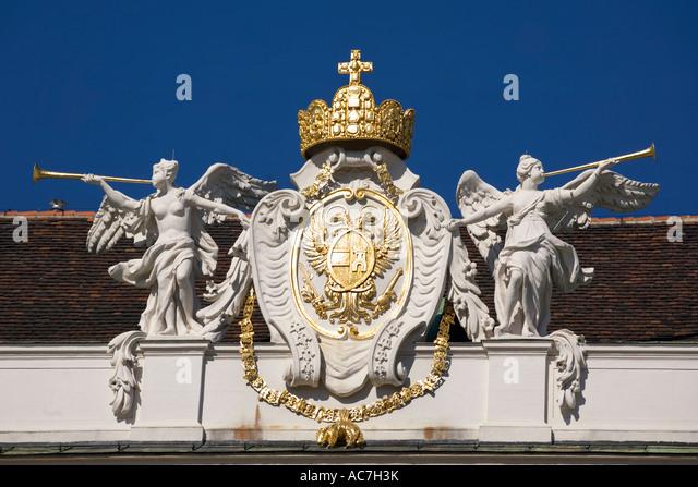 Vienna Hofburg architectural detail - Stock Image