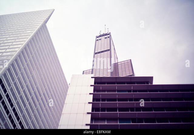 USA, Illinois, Cook County, Chicago, Willis Tower in Chicago - Stock Image